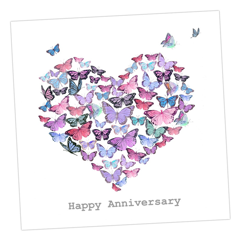 Happy Anniversary Butterflies Card