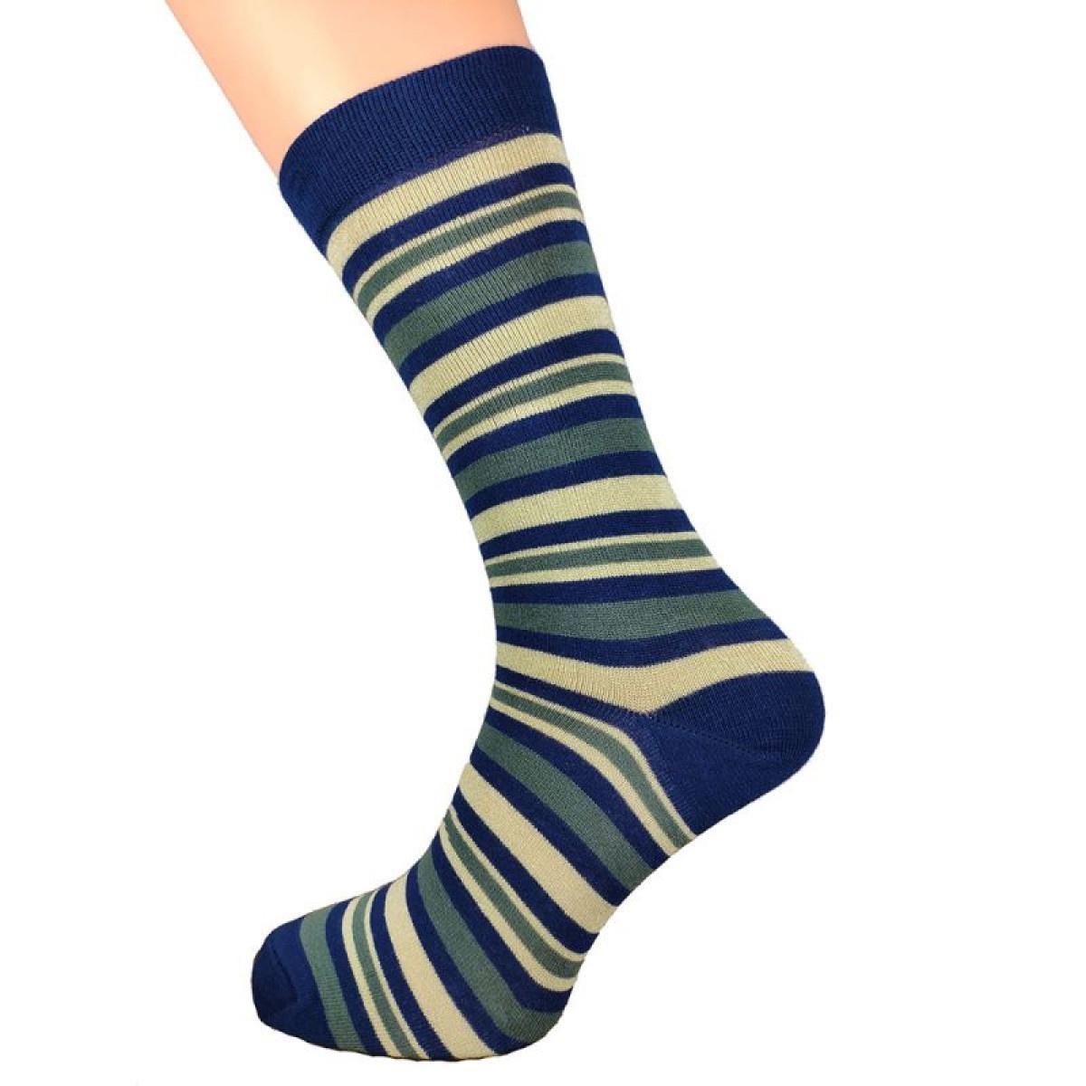 Mens Stripe Bamboo Socks