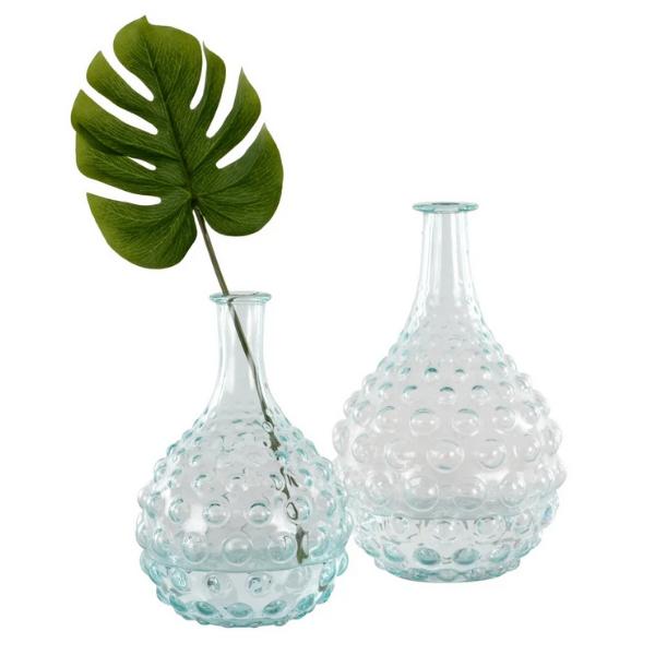 Glass Stem Bubble Vases