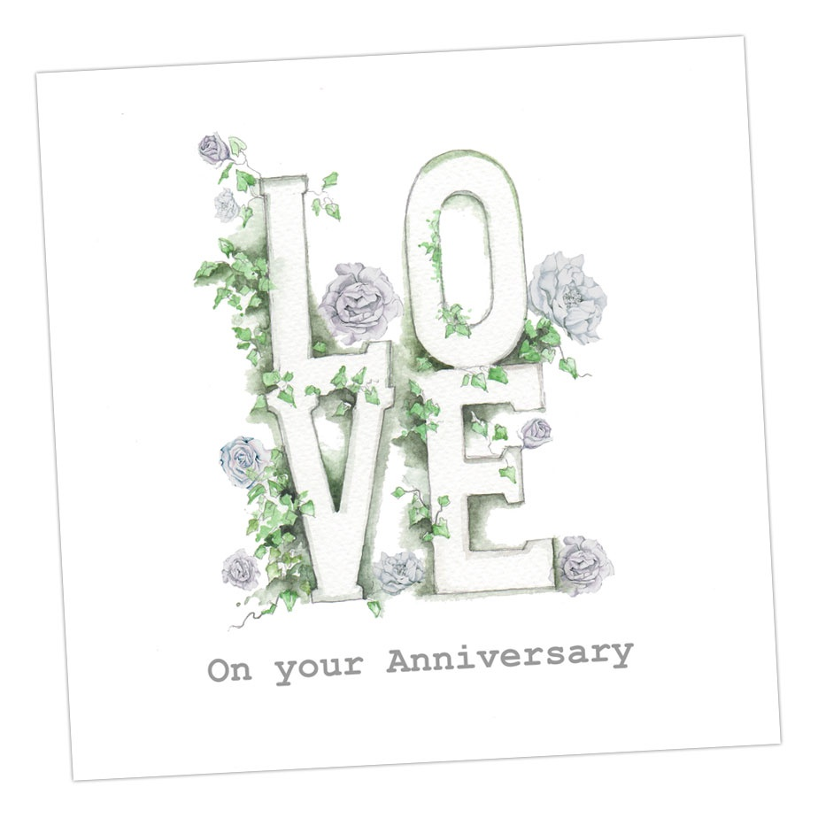 Love On Your Anniversary Card