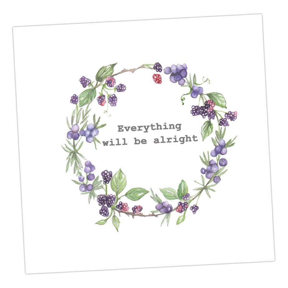 Everything Will Be Alright - Wreath Card