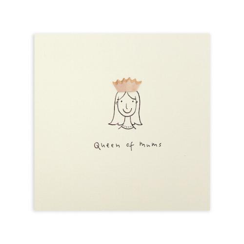 'Queen of Mums' Pencil Shavings Card