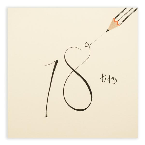 18 Today! Pencil Shavings Card