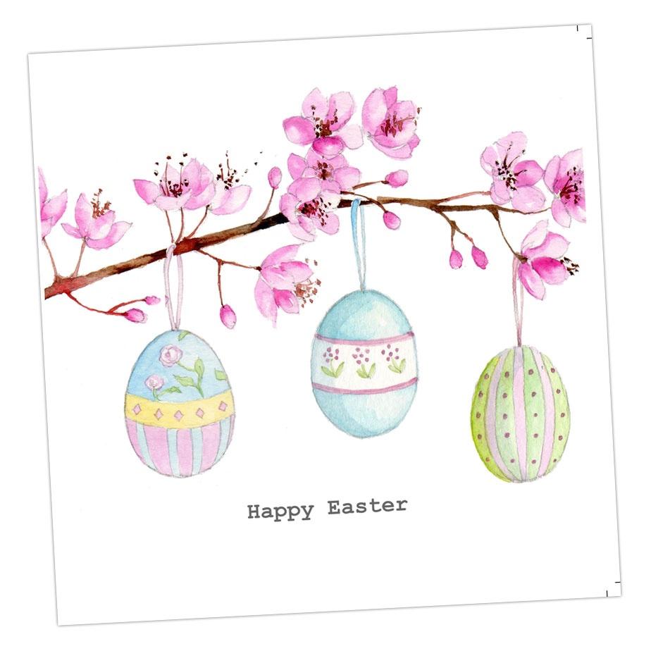 Easter Egg Blossom Card