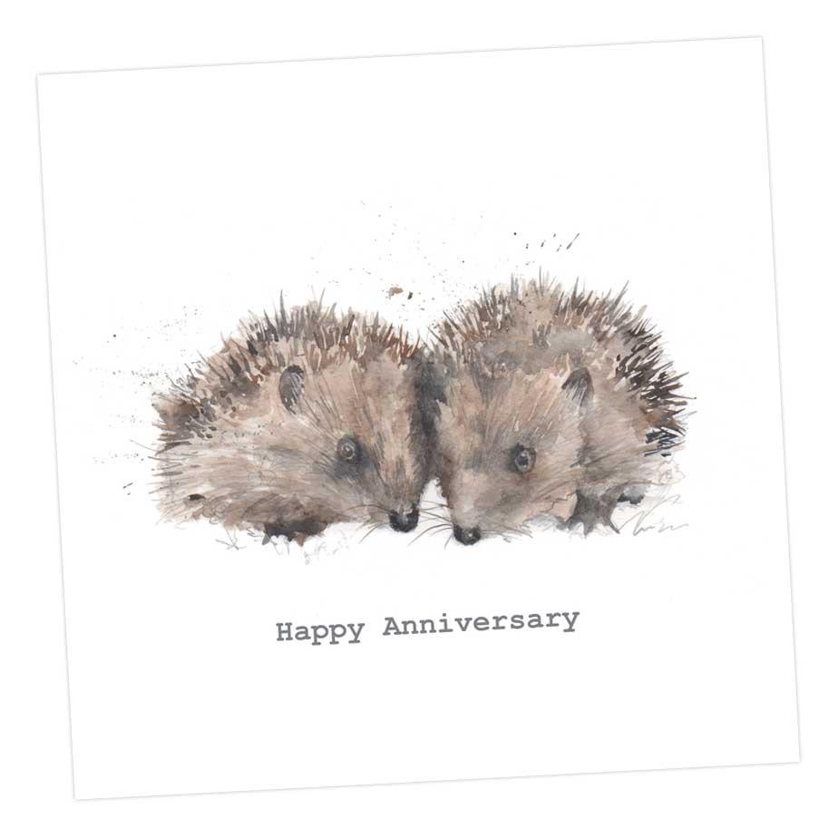 Happy Anniversary Hedgehogs Card