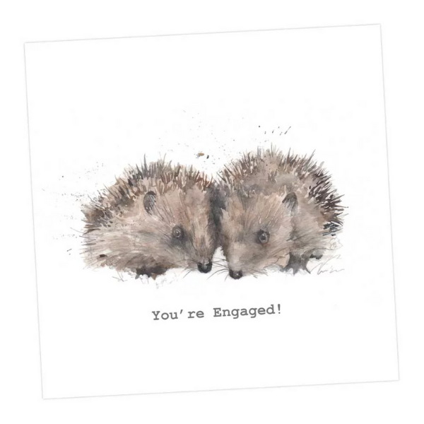 You're Engaged Hedgehogs Card