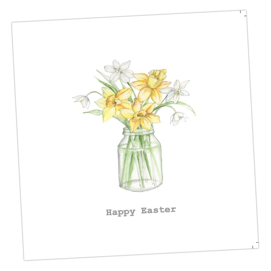 Happy Easter - Daffodil Jar Card