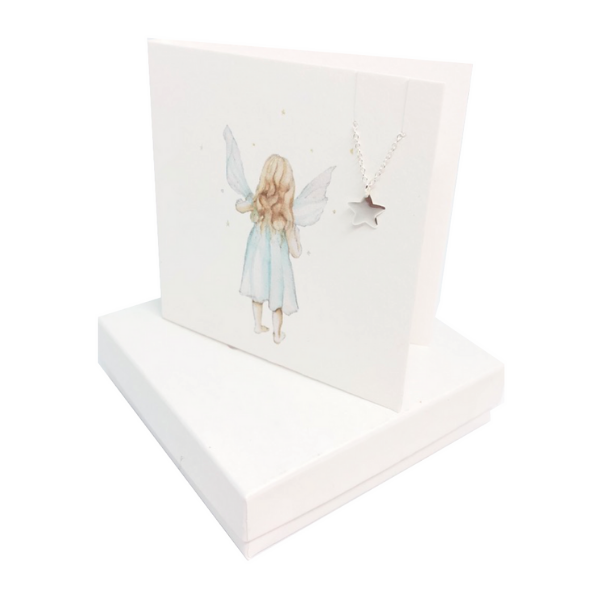 Sterling Silver Star Necklace Card