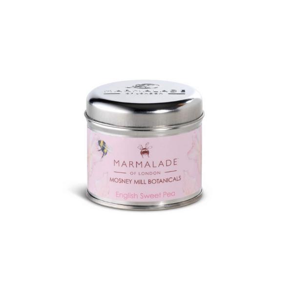 Marmalade x Mosney Mill English Sweet Pea Tin Candle