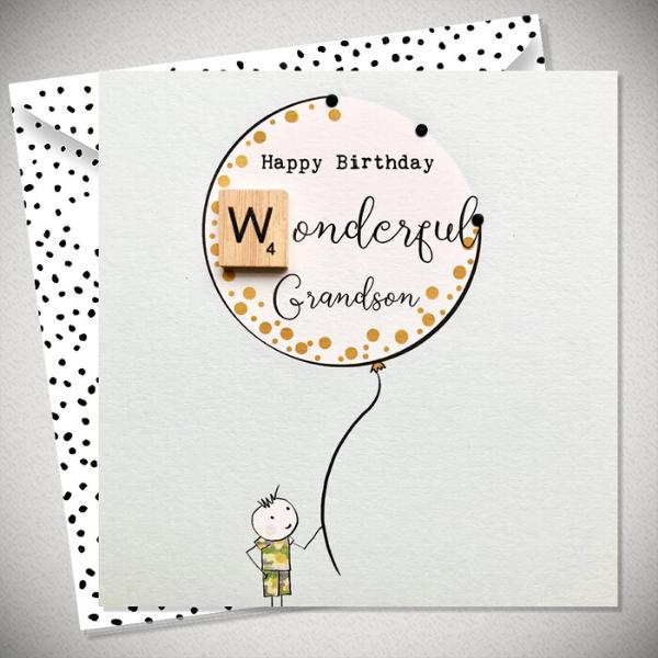 Happy Birthday Wonderful Grandson Card