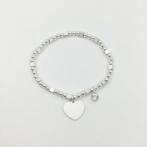 Gem & Heart Bracelet