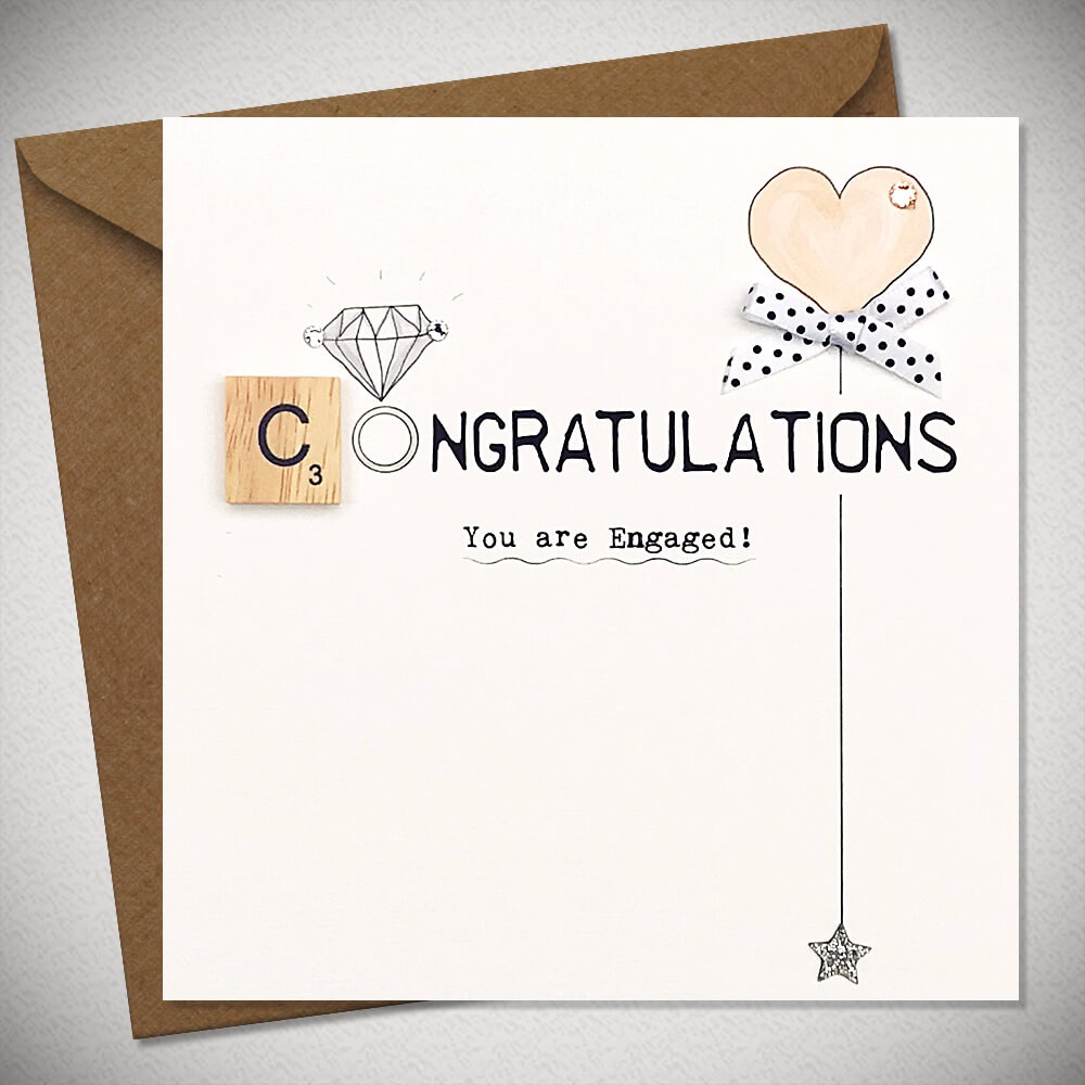 Congratulations You're Engaged Scrabble Card