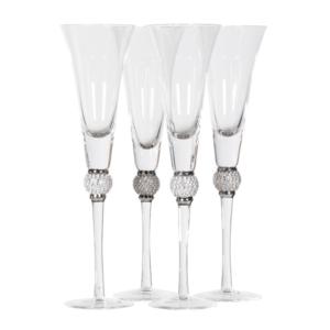 Dimante Champagne Glasses