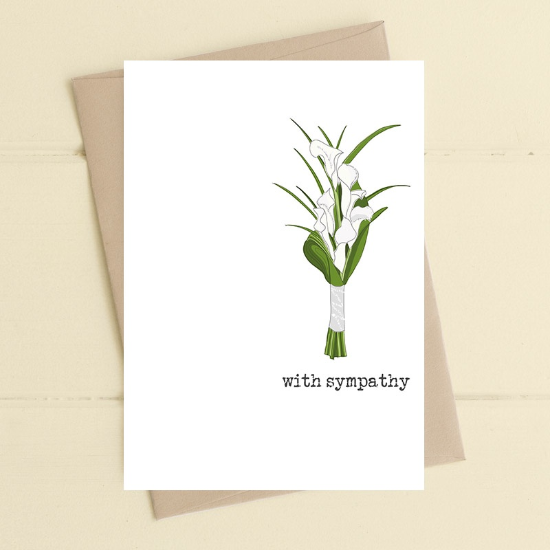 With Sympathy – Lillies Card