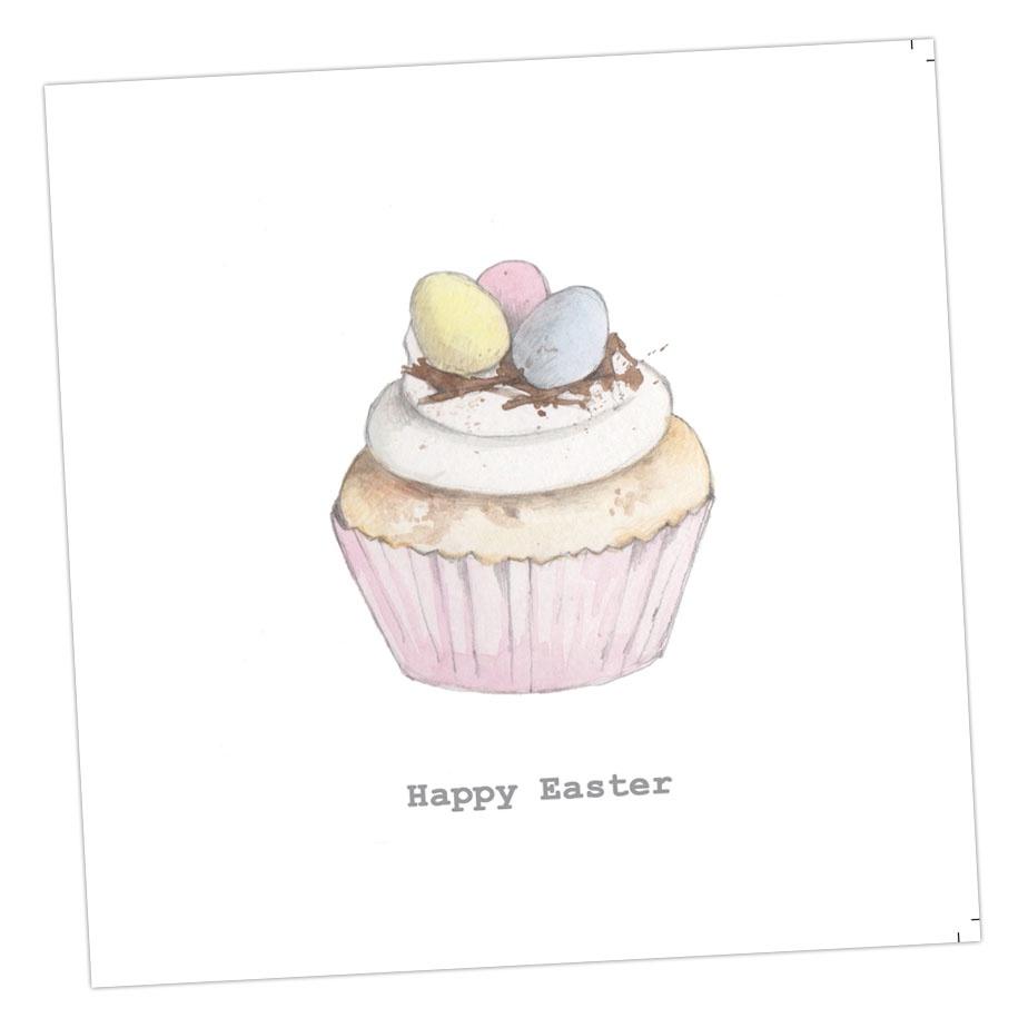 Easter Egg Cupcake Card