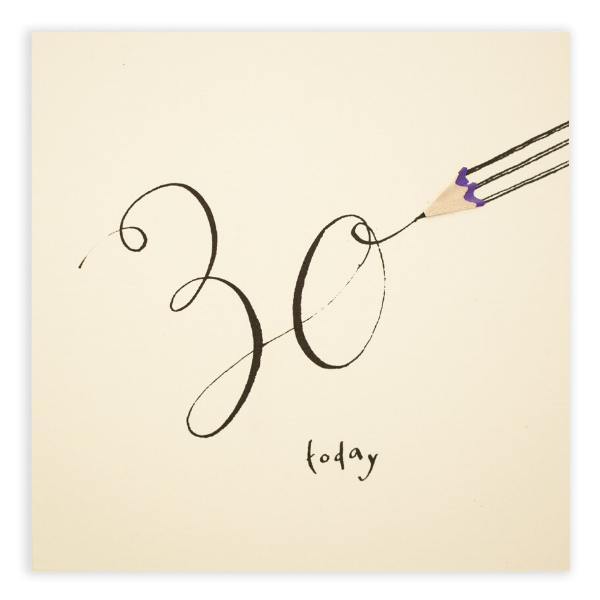 30 Today! Pencil Shavings Card