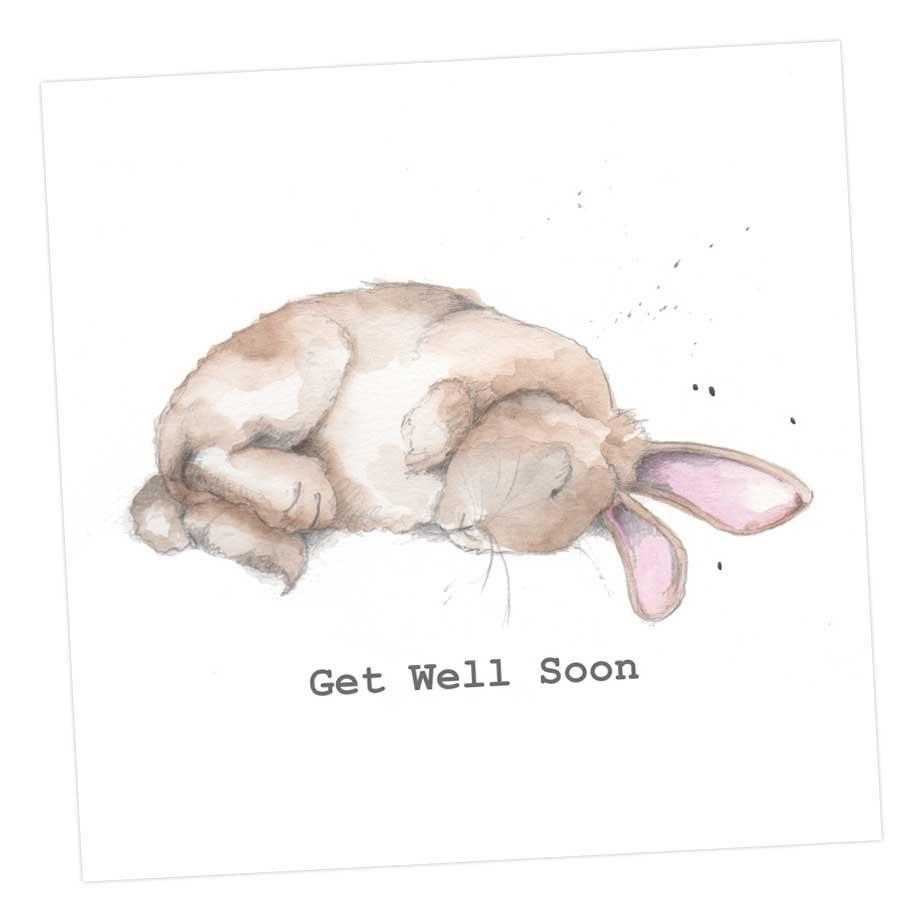 Get Well Soon - Bertie Bunny Card