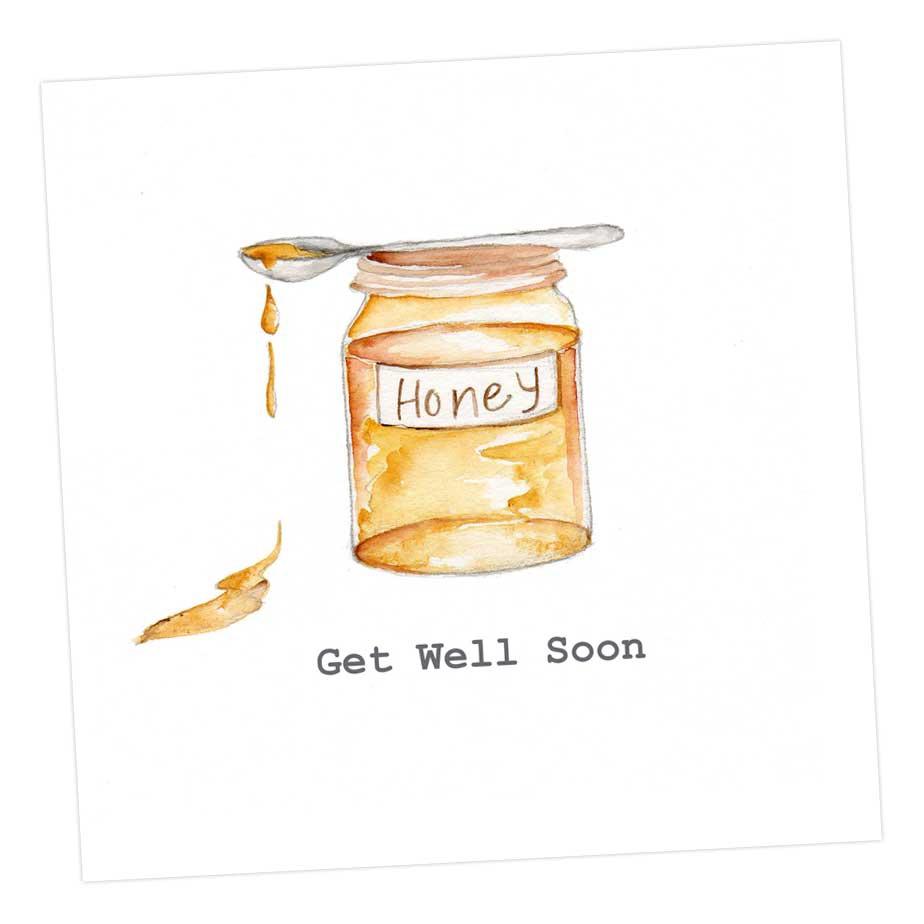Get Well Soon Honey - Card