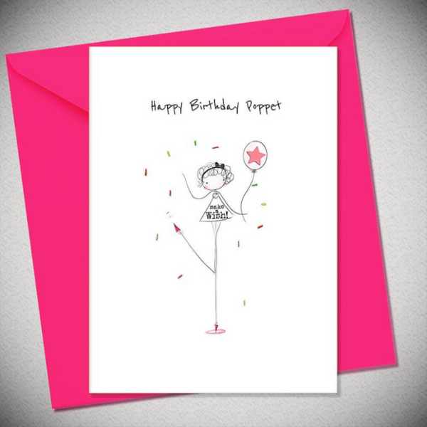 Happy Birthday Poppet Card